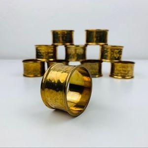 Vintage Brass napkin ring set of 10